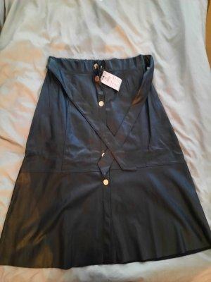 Reserved Jupe en cuir noir