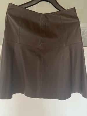 Reserved Spódnica z imitacji skóry ciemnobrązowy