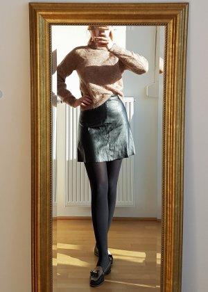 Benetton Faux Leather Skirt black