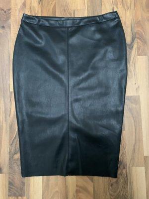 Primark Faux Leather Skirt black