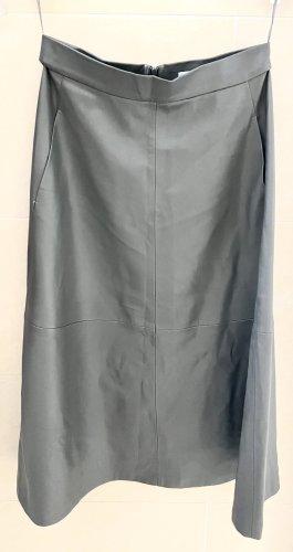 Mango Suit Jupe en cuir gris