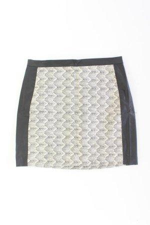 Falda de cuero de imitación negro Algodón