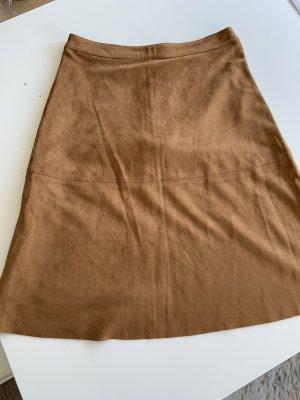 Vila Faux Leather Skirt cognac-coloured