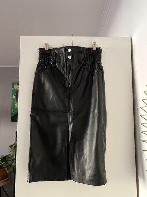 Kunstlederrock High waist, Bleistiftrock