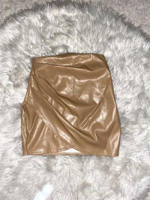 Boohoo Miniskirt beige-camel