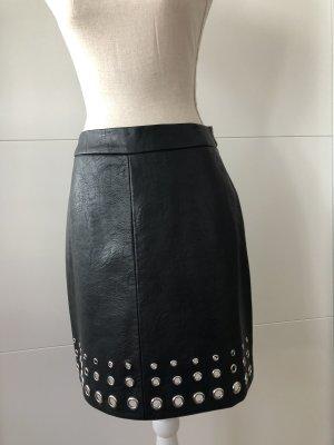 Orsay Leren rok zwart-zilver