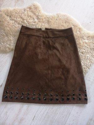 Orsay Spódnica z imitacji skóry brąz