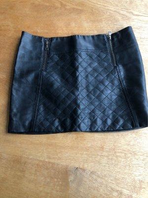 Atmosphere Falda de cuero de imitación negro