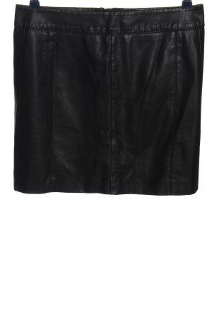 Kunstlederrock schwarz Glanz-Optik