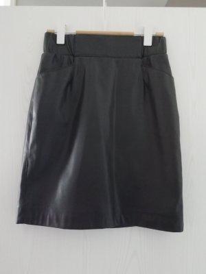 Faux Leather Skirt black polypropylene
