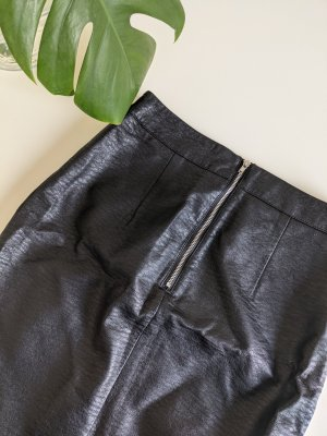 Woman for H&M Faux Leather Skirt black polyester