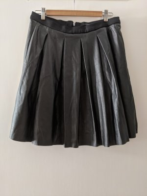 Reserved Faux Leather Skirt black