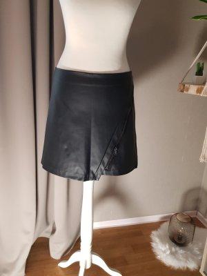 Falda de cuero negro Poliéster