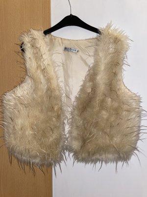 Fake Fur Vest light brown-cream