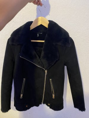 H&M Jack van imitatiebont zwart