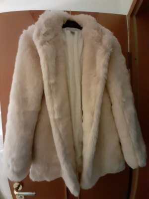 H&M Fake Fur Jacket cream