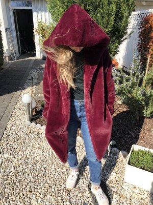 Forever 21 Fake Fur Jacket bordeaux