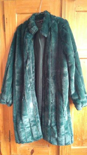 HYFVE Płaszcz ze sztucznym futrem zielony-ciemnozielony
