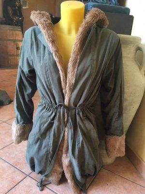 Manteau en fausse fourrure multicolore tissu mixte