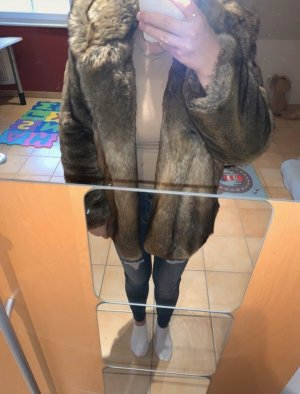 Zara Veste de fourrure multicolore