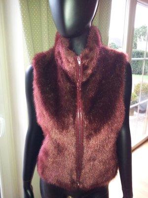 Bandolera Vest brown red polyester