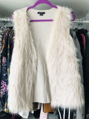 Esmara Fake Fur Vest natural white-cream