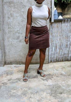 Montego Faux Leather Skirt cognac-coloured