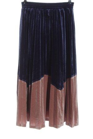 kuose Falda plisada azul-nude look efecto mojado