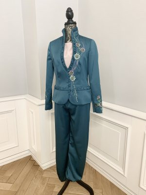 Handmade Trouser Suit petrol