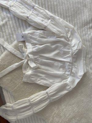 kurgeschnittene bluse mit Rückenausschnitt