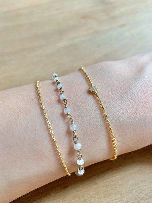 Kurshuni Armband gold Steinchen filigran elegant 925 Silber vergoldet gold NEU