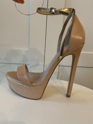 Kurt Geiger Plateauzool sandalen goud-nude