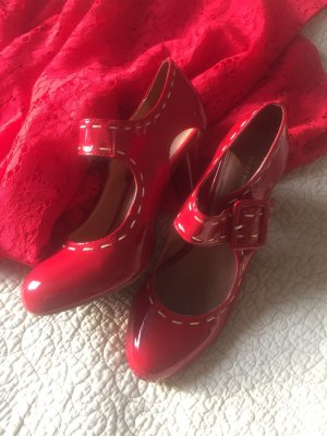 KURT GEIGER Pumps Mary Janes Lackleder rot 39