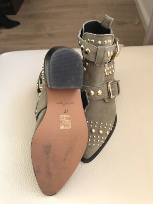 Kurt Geiger Stivaletto cut out cachi-nero