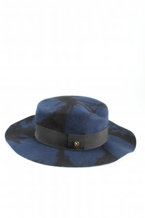 Kurt Geiger Woolen Hat blue-black abstract pattern extravagant style