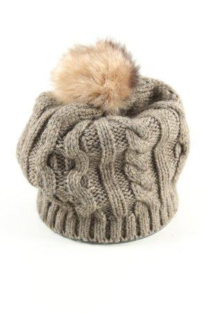 Kurt Kölln Bobble Hat brown-cream flecked casual look