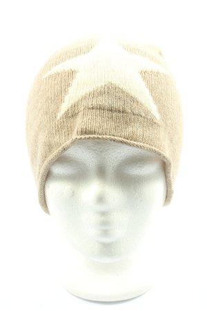 kurtkoelln Knitted Hat cream themed print casual look