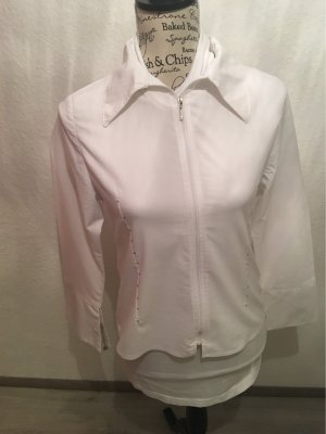 A. D. Collection Blazer corto blanco