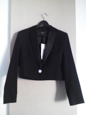 Kurz-Blazer in Schwarz aus 96% Baumwolle, Größe M neu