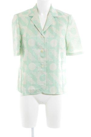 Kurz-Blazer mint-hellbeige abstraktes Muster extravaganter Stil