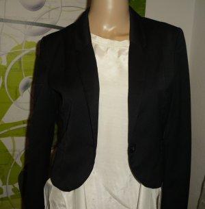 Kurz Blazer, schwarz, Gr.34, H&M (291-GV)