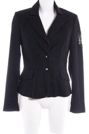 Kurz-Blazer schwarz-silberfarben extravaganter Stil