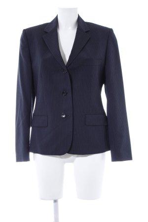 Kurz-Blazer schwarz-stahlblau Nadelstreifen Casual-Look