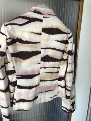 Kurz Blazer von Moschino Beige Rosé Tiger