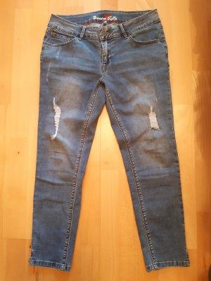Buena Vista Jeans 3/4 bleu acier