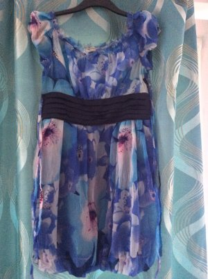 Rinascimento vestido de globo azul Viscosa