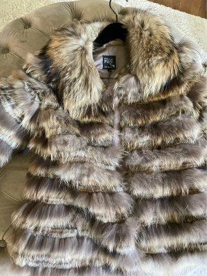 Welovefurs Manteau de fourrure multicolore