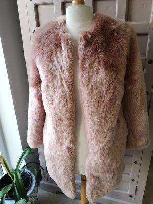 Kurz Mantel Jacke Imitatfell Rosé Gr 36 Wie Neu