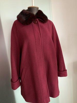 Kurz Mantel mit Kunstfell Kragen Gr 42 44 XL
