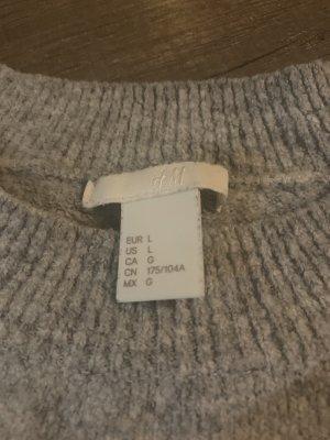 H&M Maglione a maniche corte grigio chiaro